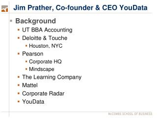 Jim Prather, Co-founder & CEO YouData