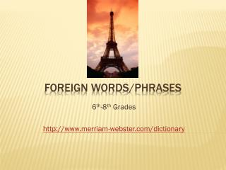Foreign Words/Phrases