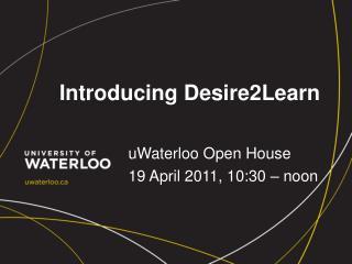 Introducing Desire2Learn