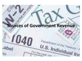 Sources of Government Revenue