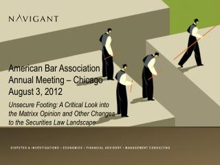 American Bar Association Annual Meeting – Chicago August 3, 2012