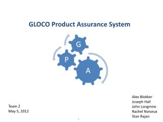 GLOCO Product Assurance System