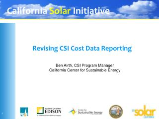 Revising CSI Cost Data Reporting