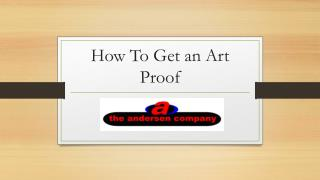 How To Get an Art Proof