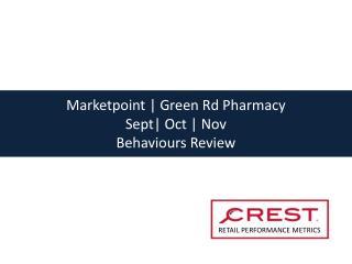 Marketpoint | Green Rd Pharmacy  Sept| Oct | Nov  Behaviours Review