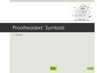 Proofreaders' Symbols