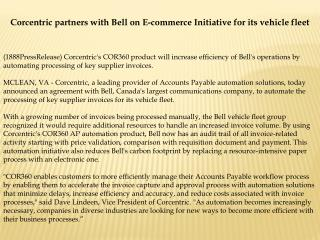 corcentric partners with bell on e-commerce initiative for i