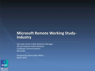 Microsoft Remote Working Study- Industry
