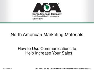 North American Marketing Materials