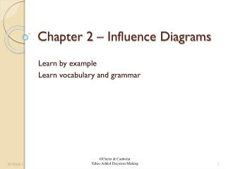 Chapter 2 – Influence Diagrams