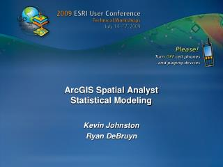 arcgis spatial analyst  statistical modeling