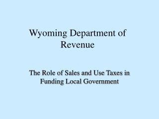 Wyoming Department of Revenue