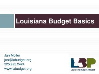 Louisiana Budget Basics
