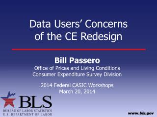 Data Users� Concerns  of the CE Redesign