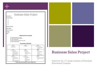 Business Sales Project
