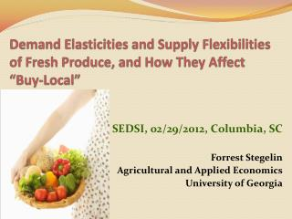 "Demand Elasticities and Supply Flexibilities of Fresh Produce, and How They Affect ""Buy-Local"""
