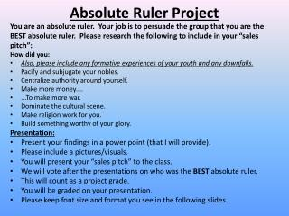 Absolute Ruler  Project