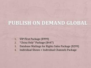 Publish On Demand Global