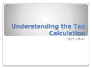 Understanding the Tax Calculation