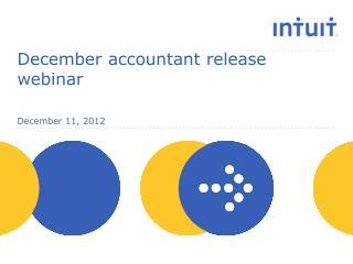 December accountant release webinar