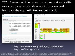 TCS: A new multiple sequence alignment reliability measure to estimate alignment accuracy and improve phylogenetic tree
