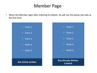 Member Page
