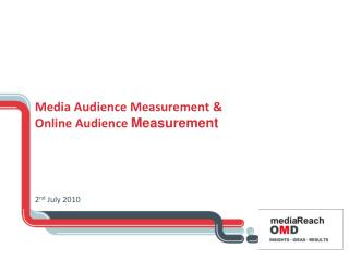 Media Audience Measurement &  Online Audience  Measurement