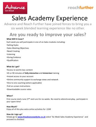 Sales Academy Experience