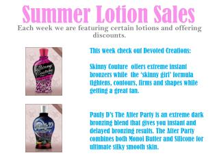 Summer Lotion Sales