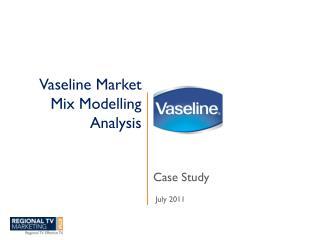 Vaseline Market Mix Modelling Analysis