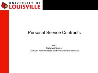 personal service contracts host: sally molsberger ...