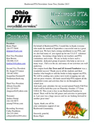 Rushwood PTA Newsletter