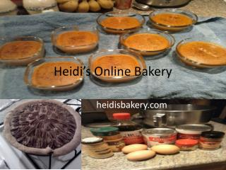 Heidi's Online Bakery