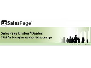 SalesPage Broker/Dealer: CRM for Managing Advisor Relationships