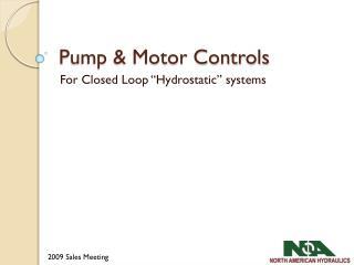 Pump & Motor Controls