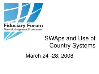 SWAps and Use of Country Systems