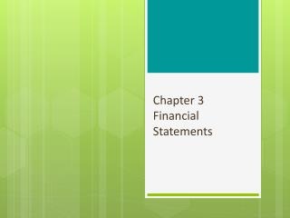 Chapter 3 Financial Statements