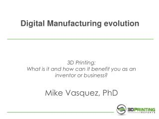 Digital Manufacturing evolution