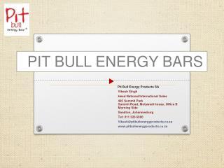 PIT BULL ENERGY BARS