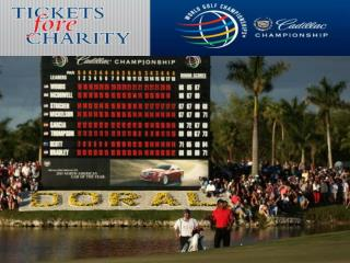 World Golf Championships® - Cadillac Championship Fantastic field and amazing location