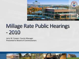 Millage Rate Public Hearings - 2010