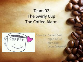 Team 02 The Swirly Cup The Coffee Alarm