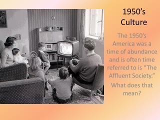 1950's Culture