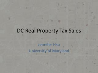 DC Real Property Tax Sales