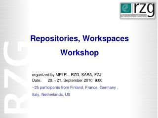 Repositories ,  Workspaces Workshop