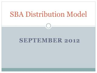 SBA Distribution Model