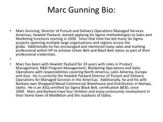 Marc Gunning Bio: