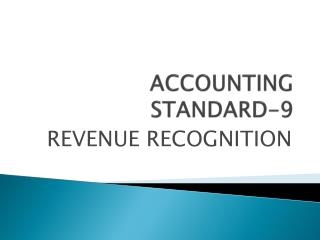ACCOUNTING STANDARD-9