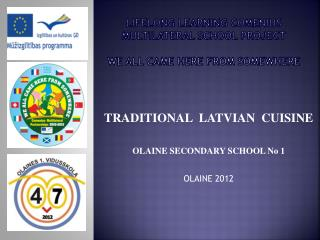 Lifelong learning comenius MULTIlATERAL SCHOOL PROJECT WE ALL CAME HERE FROM SOMEWHERE