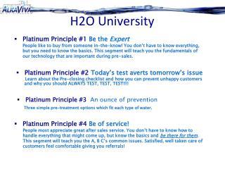 H2O University